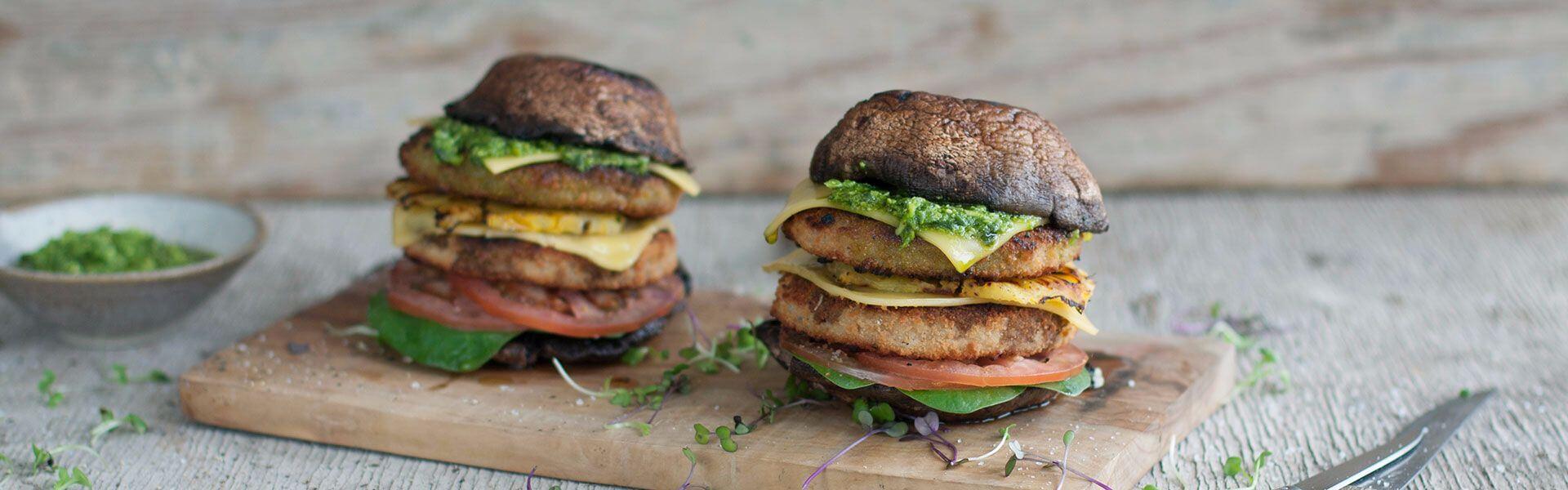 fry's braaied mushroom burger