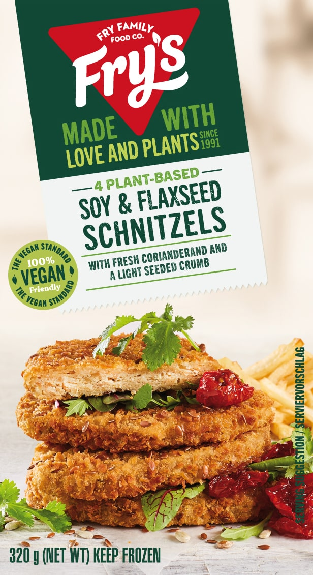 Soy & flaxseed schnitzels
