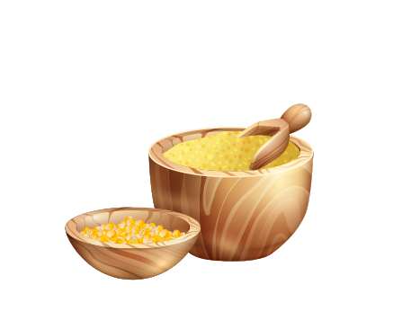Maize in bowl
