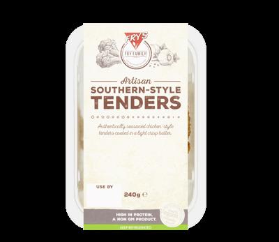Vegan southern-style tenders packaging