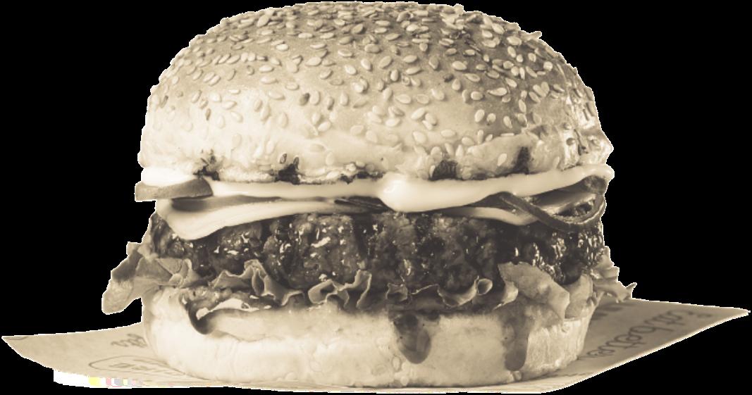 Sepia burger image