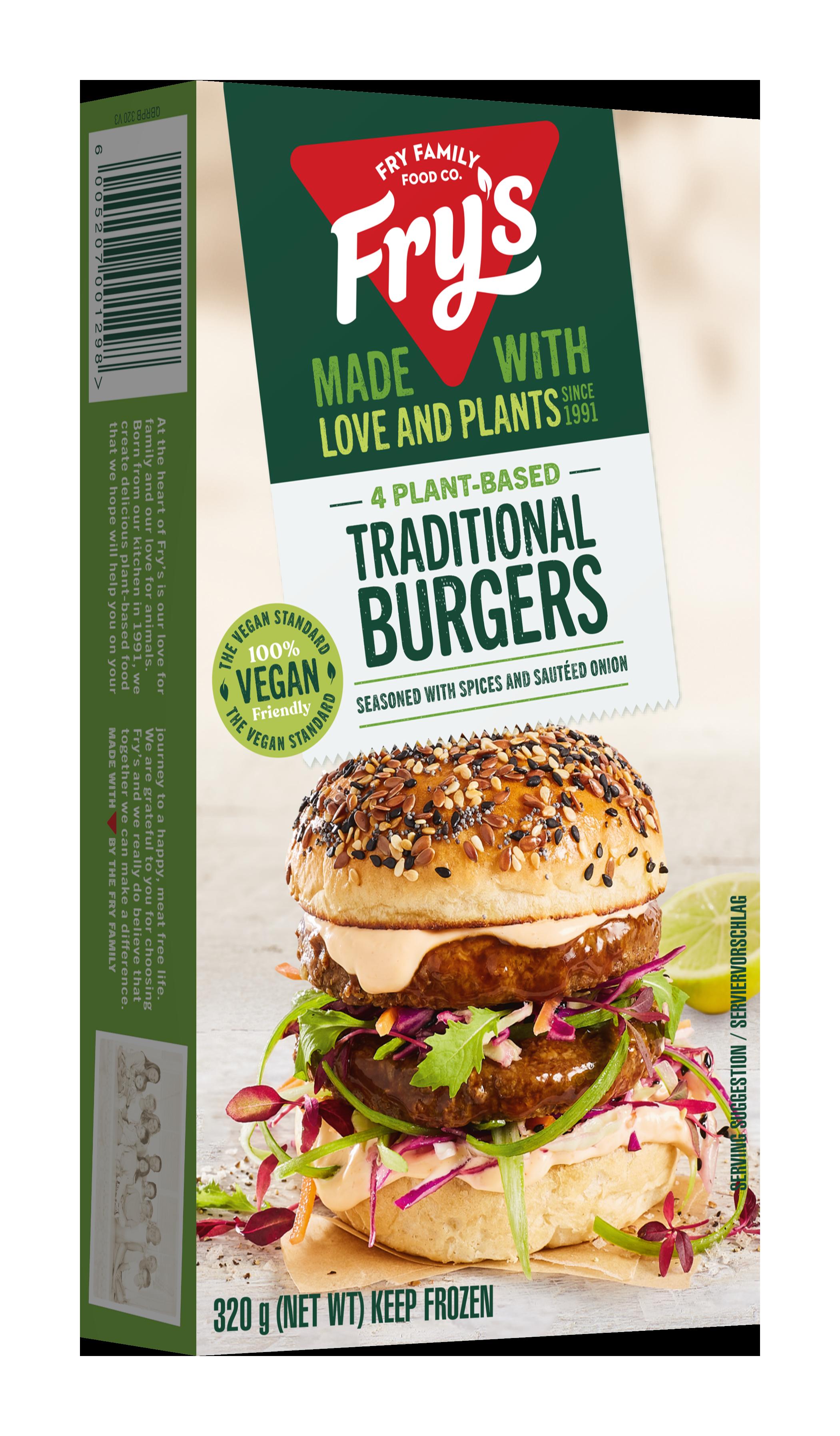 Plant-based traditional burger